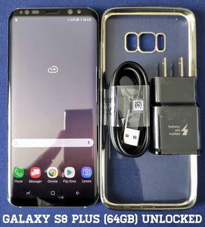 Galaxy S8 Plus (64GB) Factory-UNLOCKED + Accessories for Sale in Arlington, VA