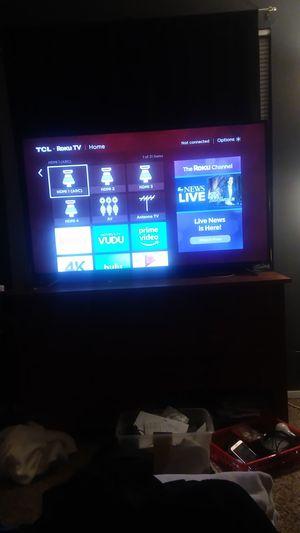 55 in TCL Roku TV 4K for Sale in Hanover Park, IL
