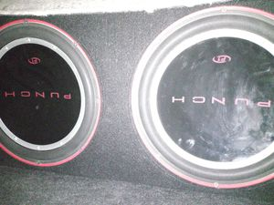 Punch 12 inch subwoofers for Sale in Las Vegas, NV