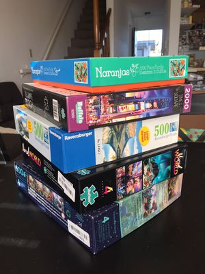 NEW PUZZLE LOT OF 5; BUFFALO GAMES, RAVENSBURGER, DISNEY for Sale in Lomita, CA