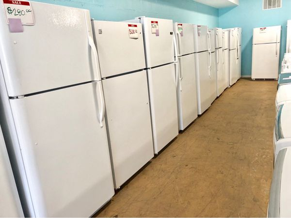 White and black top freezer fridges 90 days warranty