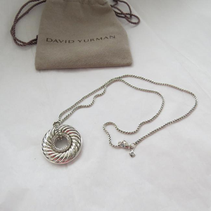 DAVID YURMAN Diamond Sculpted Cable Disc Pendant Necklace for Sale in Washington, DC