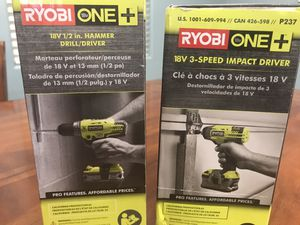 Ryobi Hammer Drill and Impact Driver for Sale in Clovis, CA