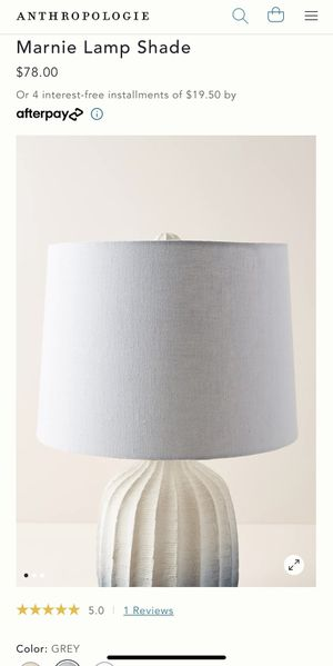 Anthropologie Marnie Lamp Shade Grey Large for Sale in Los Angeles, CA