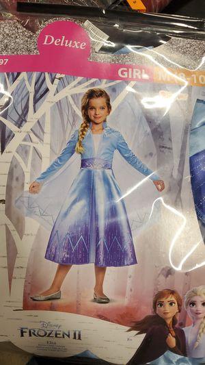 Disney Frozen Elsa costume size medium 8 to 10 for Sale in Riverside, CA