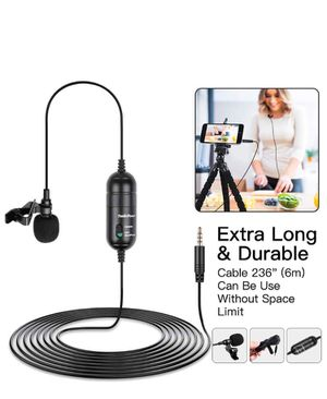 "Lavalier Lapel Recording Microphone SmilePowo Omnidirectional Lav Mic for Podcast, YouTube, Interview, Vlog, Video, Meeting, Singing with 236"" Cable for Sale in Lauderhill, FL"