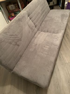 Torino Futon Couch Sofa Bed Convertible Lounger Gray for Sale in Miramar, FL