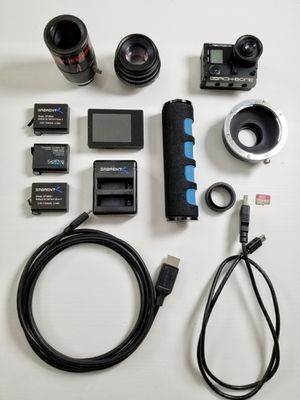 GoPro hero 4 black moded with for dslr lenses for Sale in Gilroy, CA