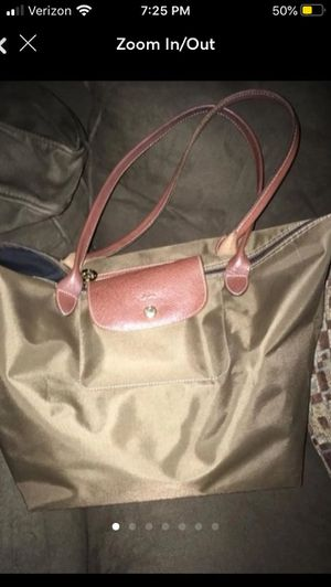 Khaki Longchamp Large Tote for Sale in Babylon, NY