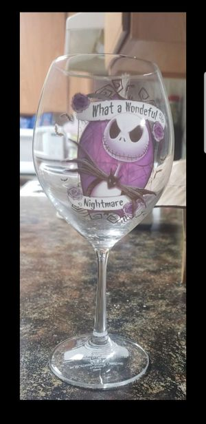 Nightmare before christmas wineglass set of 4 NEW for Sale in San Antonio, TX