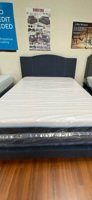 New Queen Size Upholstered Bed Frame. Mattress Sold Separately for Sale in Orlando, FL