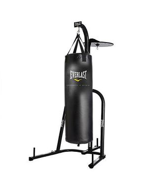 200 pound Heavy bag with stand to hold up and speed bag holder by Everlast for Sale in Lithonia, GA