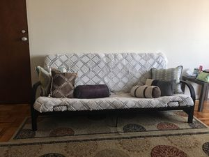 Futon sofa and table for Sale in Washington, DC
