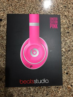 """"""" TRIED ON ONCE - PRISTINE CONDITION: LIMITED EDITION PINK BEATS STUDIO HEADPHONES / w EVERYTHING INCLUDED- 100% AUTHENTIC!!!!!!! for Sale in Orlando, FL"""