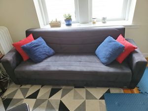 Sleeper sofa with storage (futon/bed couch) for Sale in West Somerville, MA
