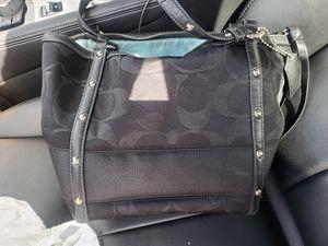 Coach Black Signature C Studded Lurex Canvas Tote Handbag Purse 12905 for Sale in Pembroke Pines, FL