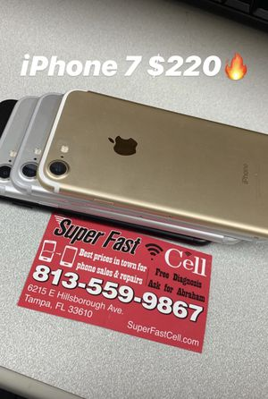 Apple iPhone 7 32 GB factory unlocked with warranty for Sale in Tampa, FL
