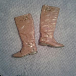 Size 6M Brown leather boots for Sale in Hazlehurst, GA