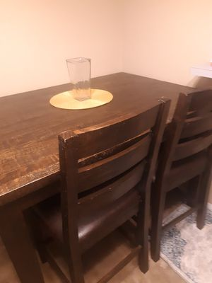 Wooden kitchen table and 2 chairs for Sale in O'Fallon, MO