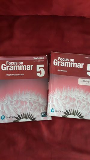FOCUS ON GRAMMAR 5 BOOK AND WORKBOOK for Sale in Tampa, FL