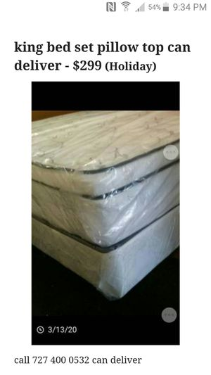King bed pillow top can deliver for Sale in St. Petersburg, FL