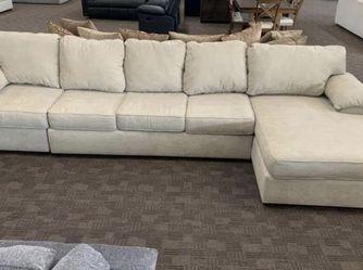 Tan Beige Sleeper Sectional for Sale in Mesa,  AZ
