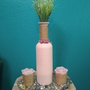 Carafe Vase With Rose Candles for Sale in Phoenix, AZ