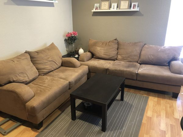 Couch, love seat and coffee table for sale
