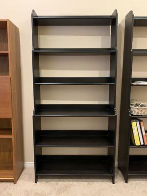 Black bookshelves (2) for Sale in Palm Desert, CA