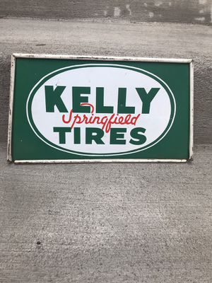 Antique Kelly Springfield Tires Sign for Sale in Seattle, WA