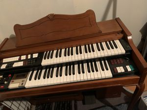 Lowery Electric Organ with Piano Bench for Sale in Houston, TX