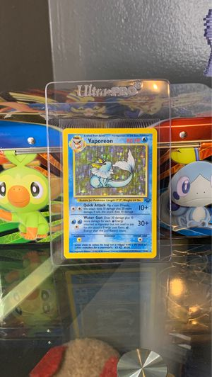 Vaporeon 12/64 Jungle Set HOLO RARE Pokemon Card MP Condition for Sale in Los Angeles, CA