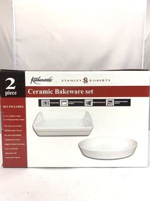 2 Piece Ceramic Bakeware Set Kitchenworks for Sale in Whitesboro, NY