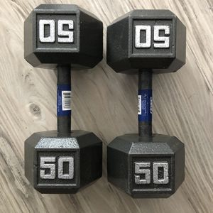 Cast Iron Hex Dumbbells (100 Pounds) *BRAND NEW* for Sale in Rolling Hills, CA