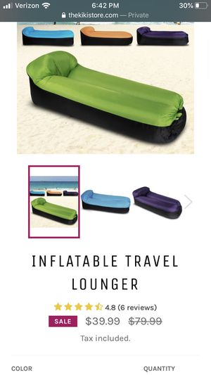 Inflatable travel lounger . Brand new for Sale in Rancho Cucamonga, CA