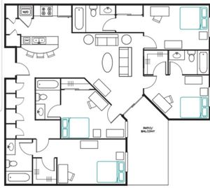 Save over $180 per month for an ASU apartment room with private bathroom for Sale in Tempe, AZ