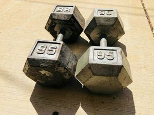 Dumbbells - 95lbs Dumbbells - Gym Equipment - Fitness - Work Out for Sale in Bolingbrook, IL