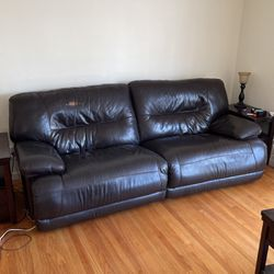 Leather sofa recliner for Sale in Palo Alto,  CA