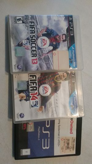 Ps3 game ( Fifa 13, 14 & Amazing Spiderman 2 for Sale in Peabody, MA