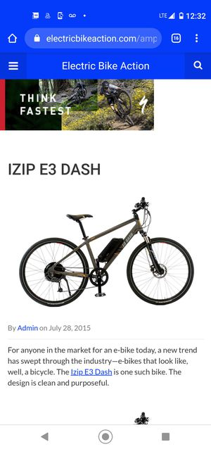 E3 Dash electronic bicycle for Sale in San Jose, CA