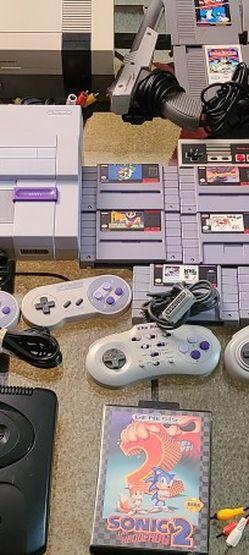 Nintendo Nes, Super Nintendo Snes, Sega Bundle for Sale in Kent,  WA