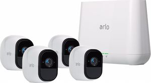 Arlo - Pro 2 4-Camera Indoor/Outdoor Wireless 1080p Security Camera System - White for Sale in Battle Ground, WA