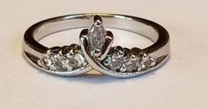 Beautiful Sterling Silver white tourmaline tiara ring size 7 for Sale in Lake Stevens, WA