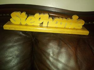 Stephanie wooden name plate for Sale in Pomona, CA