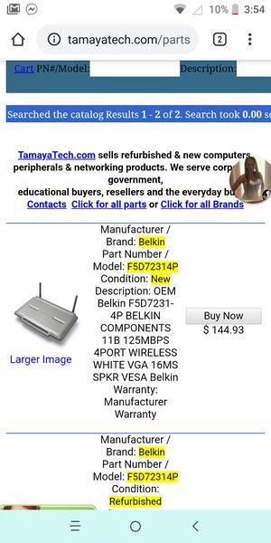 Belkin wireless G plus router for Sale in Port Richey, FL