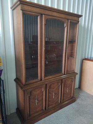 Hutch with wooden shelves silverware drawer and plenty of storage for Sale in Houston, TX