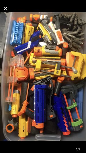 LOTS of nerf and boom co. attachments, mags, and ammo for Sale in Chevy Chase, MD