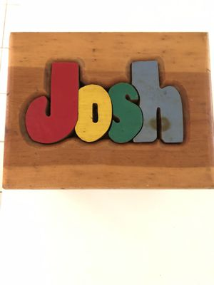 "Do you know a ""JOSH"" that would love this wooden STOOL for Sale in Houston, TX"
