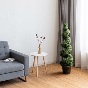 2-Set 4' Artificial Decor Green Boxwood Spiral Tree for Sale in Rowland Heights, CA