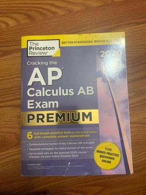 Gently used 2020 Princeton Review AP Calculus AB practice book for Sale in Walkersville, MD